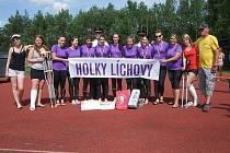 Ženy z SDH Líchovy na krajské soutěži.