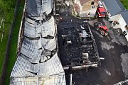 Požár v Březnici.