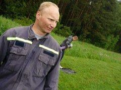 Radek Blajer, velitel jednotky SDH Březové Hory.