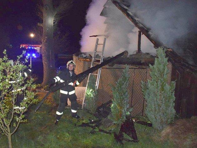 Požár v Milešově.