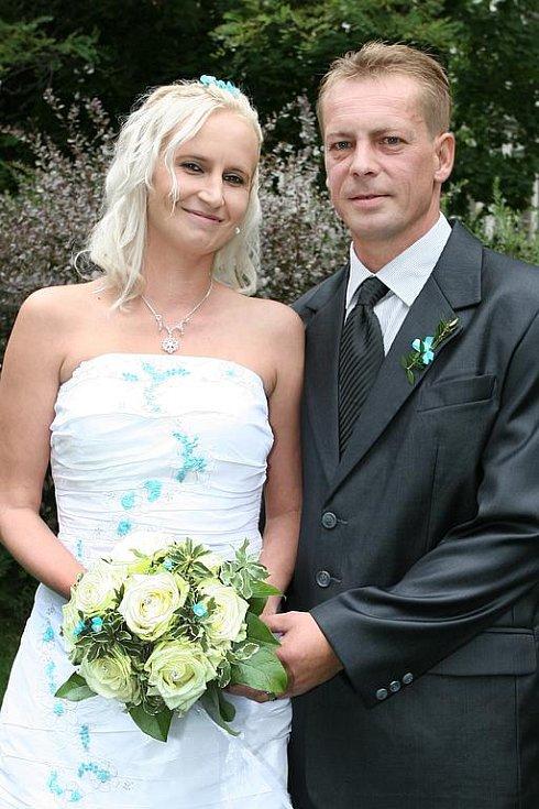 Monika Šůsová a Jaroslav Malík si řekli své ano v sobotu 28. srpna v 11.30 hodin v příbramském Zámečku.
