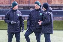 Fotbalisté Příbrami trénují už pod vedením nového kouče Jozefa Valachoviče.