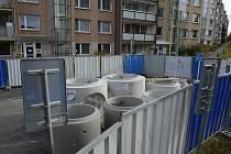 Rekonstrukce vodohospodářských sítí v Dlouhé ulici v Příbrami.