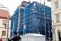 Oprava budovy příbramské radnice.