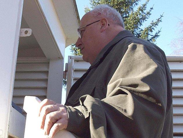 Správce rožmitálské meteorologické stanice Hubert Hoyer.
