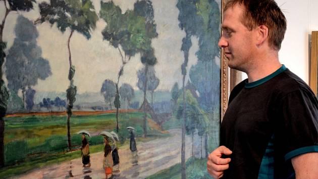Výstava obrazů českých malířů přelomu 19. a 20. století v příbramské galerii.