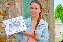 DOMINIKA LUKEŠOVÁ s návrhem loga k  oslavám osmistého výročí založení města.