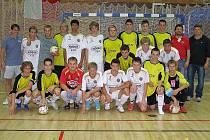 Účastníci finále kvalifikace o postup do 1. ligy juniorů ve futsalu.