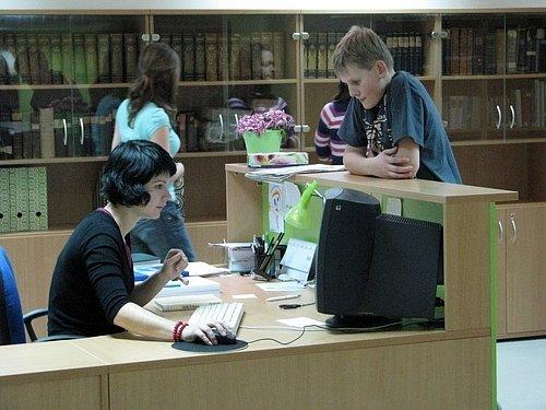 Knihovna v nově zrekonstruované budově Gymnázia v Komenského ulici