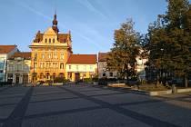 Radnice na náměstí T. G. Masaryka v Sedlčanech.