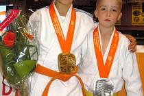 Tereza a Ondra Bodnárovi po turnaji ve Venray.
