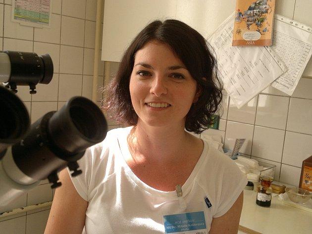 Oční lékařka Milada Královcová.