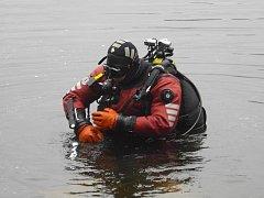 Policejní potápěč. Ilustrační foto.