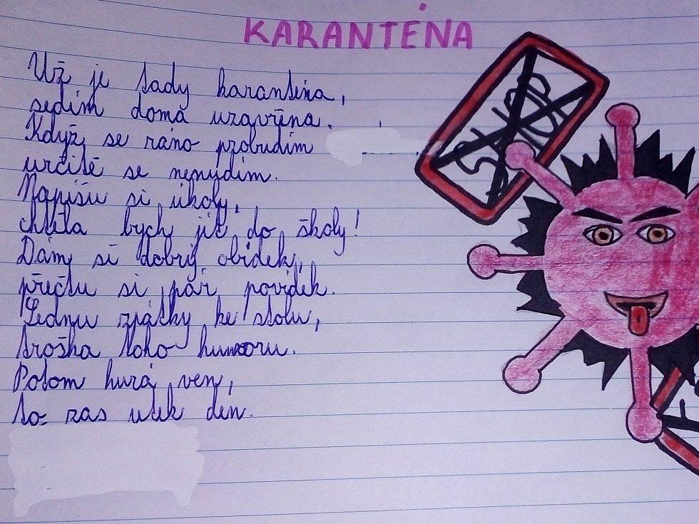 Báseň Karolíny Kofroňové ze 7. třídy Základní školy Sedlec-Prčice.