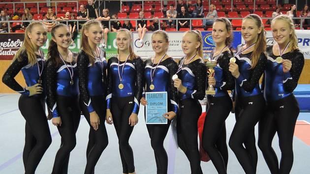 Družstvo Sokola Příbram v kategorii Junior IV.