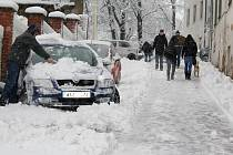 Sněhová kalamita v Příbrami.