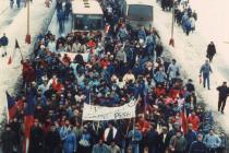 Listopad 1989 v Příbrami.