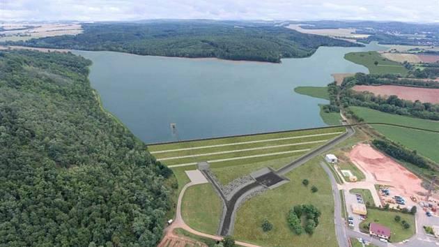 Vizualizace přehrady u Kryr.