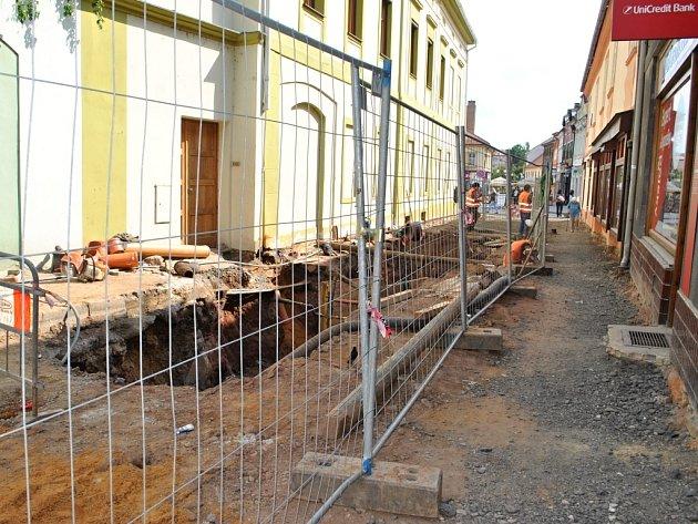 Budování ve Vysoké ulici - Rakovník