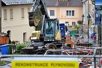 Oprava plynovodu ve Vysoké ulici v Rakovníku