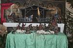 Stavění betlému v kostele sv. Václava v Čisté