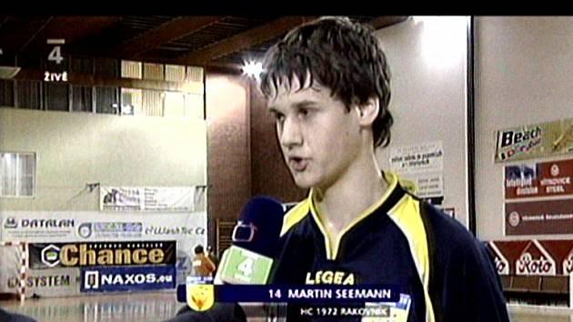 MARTIN SEEMANN poskytl  exkluzivní pozápasový rozhovor redaktorovi České televize.