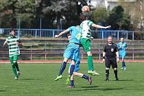 Z divizního fotbalového utkání Neratovice - Tatran Rakovník (2:4)