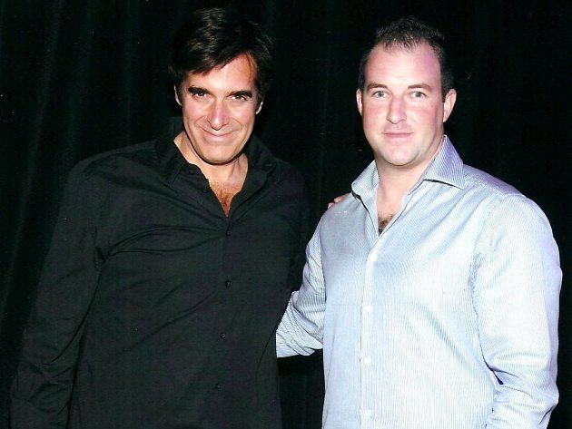 Americký iluzionista David Copperfield (vlevo) a Jan Vaidiš