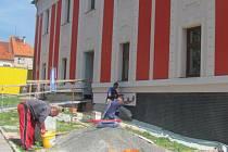 Opravy fasády čistecké radnice