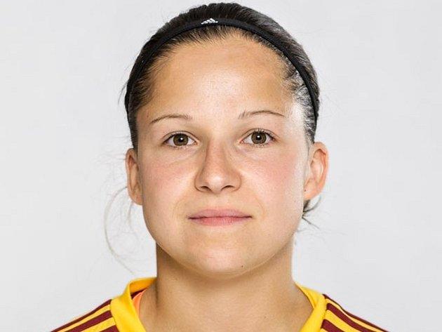 Fotbalistka Kateřina Hajnová.