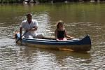 Dětský den letos děti poprvé prožily u Dolního rybníka.
