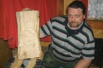 Václav Kohout při práci