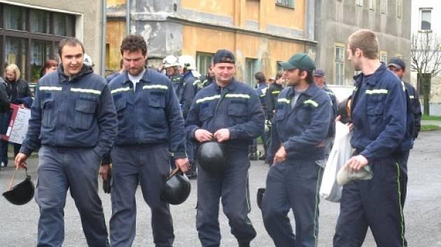 Soutěž hasičů v Kolešovicích