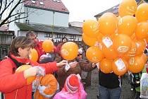 Vypouštění balónků Jéžíškovi