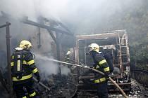 Hasiči likvidovali požár v Sýkořici