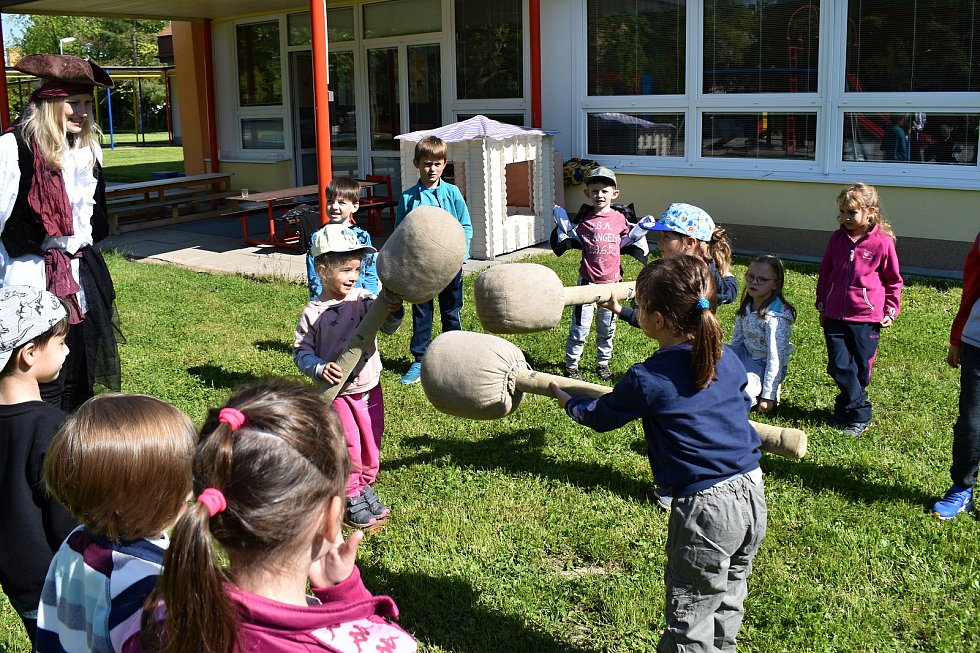 Pirátský den v Mateřské škole Klicperova v Rakovníku.