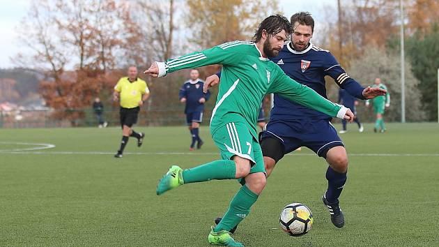 Z fotbalového utkání I.B třídy Tatran Rakovník B - Zavidov (2:3)