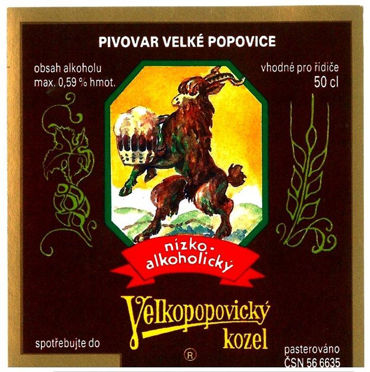 Nízkoalkoholické pivo vyráběné v devadesátých letech s tmavou etiketou.