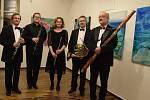 Z koncertu Pražského dechového kvarteta v Heroldově síni v Rakovníku.