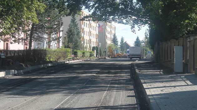 Oprava Křivoklátské ulice v Novém Strašecí