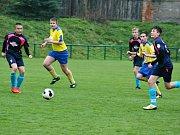 Žáci SK Rakovník v dalším kole I. A třídy rozstříleli Slaný 8:0, když polovinu branek vsítil Daniel Mašek.