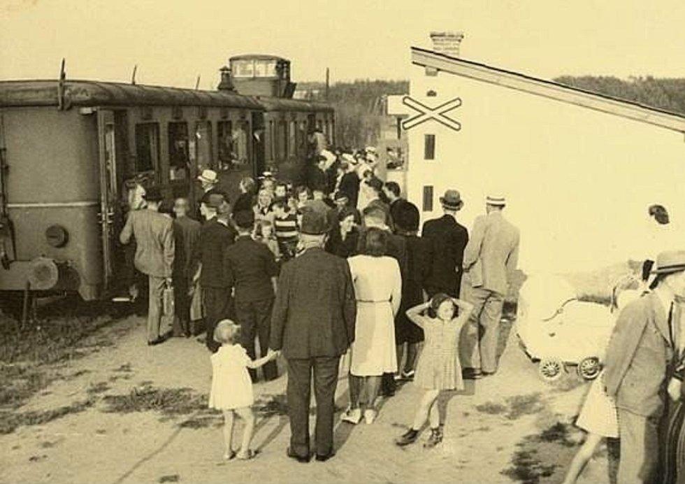 Šanovské nádraží v roce 1947.