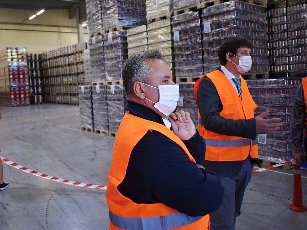 Nový sklad o velikosti tři tisíce čtverečních metrů v krušovickém pivovaru.