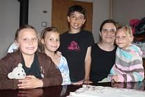 Magdalena Zemanová s dětmi
