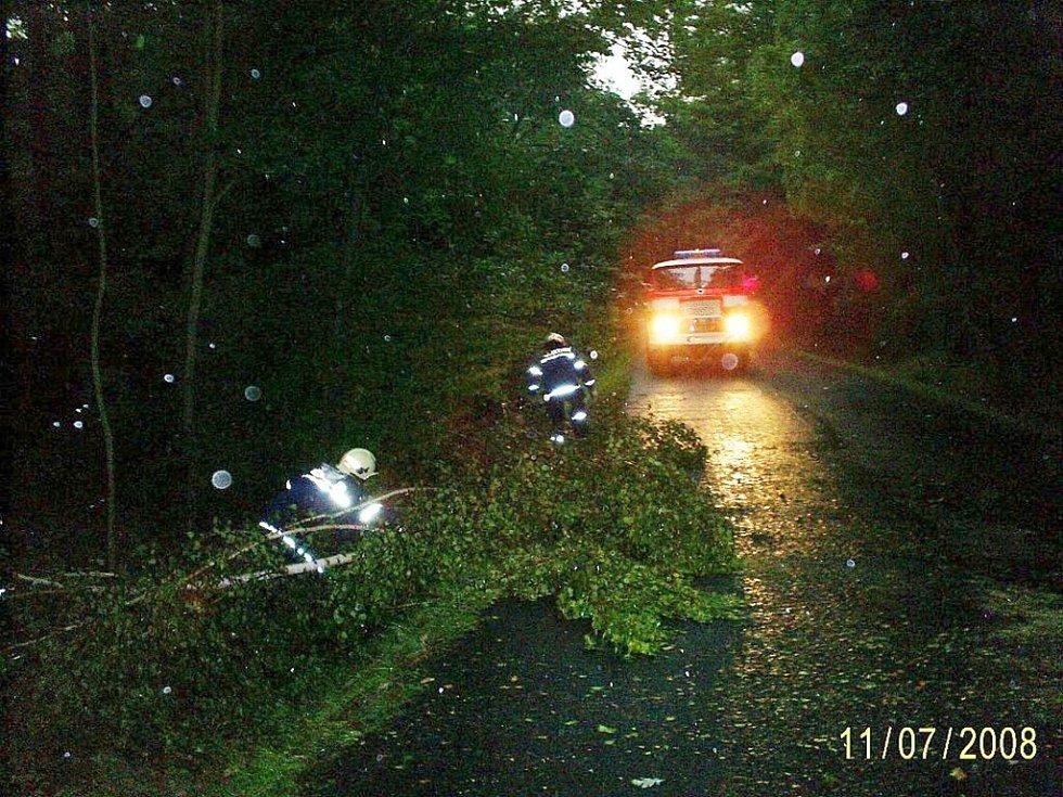 Hasiči odklízeli padlé stromy