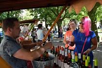 V sobotu odpoledne degustovali lidé v Novém Strašecí nejrůznější druhy vín.