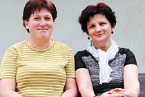 Janka Horáková, členka Občanského sdružení Paleček, spolu s Helenou Brotánkovou (vpravo).