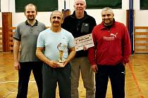 Vítězný tým Sokola Nové Strašecí, zleva: Pittner, Fabinger, Libovický a Červený.