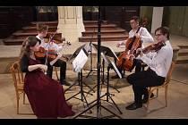 Ševčík Quartet při koncertu v Rabasově galerii.