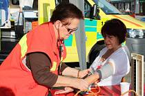 Den první pomoci na Husově náměstí v Rakovníku